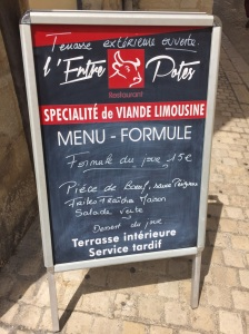 "Typical ""Formule"" Menu"