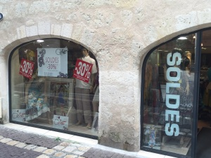 "The ""Soldes"" are on!!"